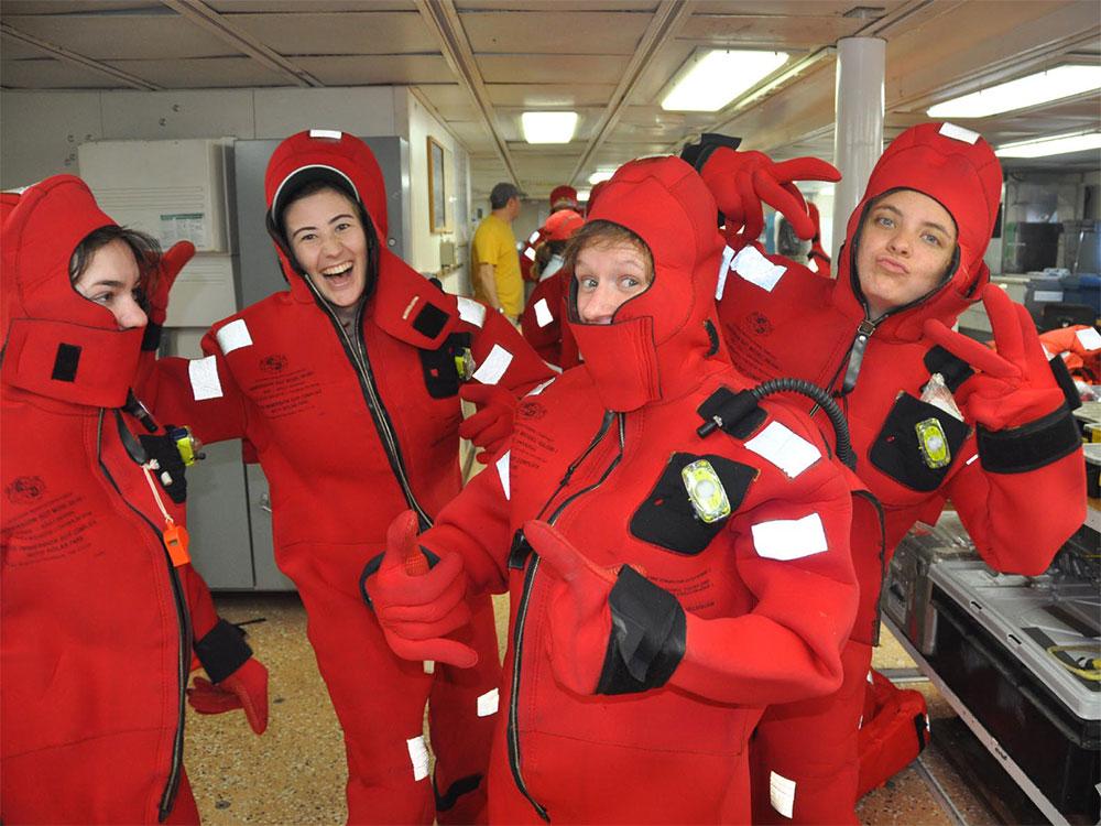 Survival suit posse
